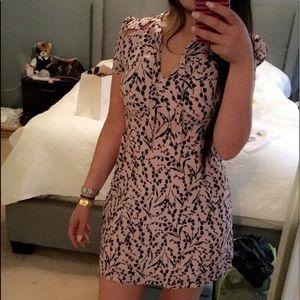 Maje pink silk dress